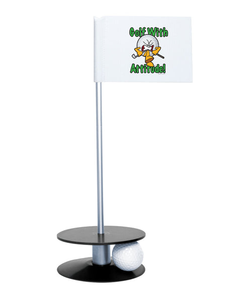 Putt-A-Round Gus the Golf Ball Gets Attitude with Black Base - For the golfer with a little attitude