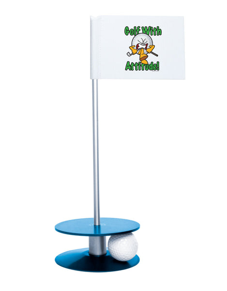 Putt-A-Round Gus the Golf Ball Gets Attitude with Blue Base - For the golfer with a little attitude