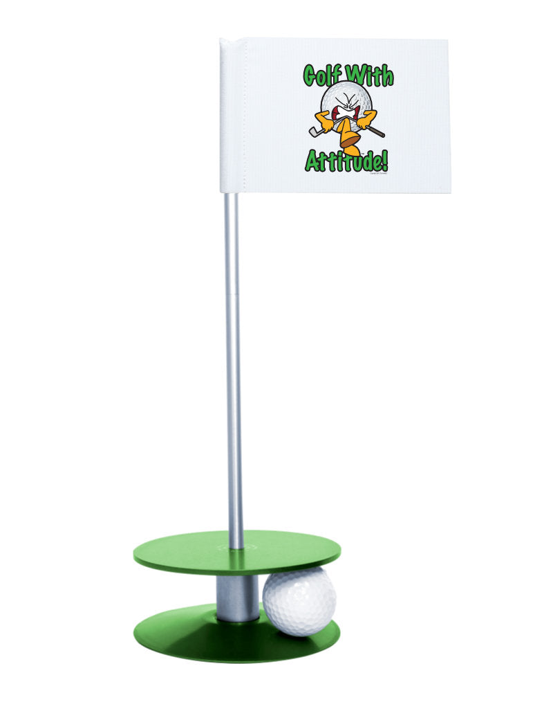 Putt-A-Round Gus the Golf Ball Gets Attitude with Green Base - For the golfer with a little attitude