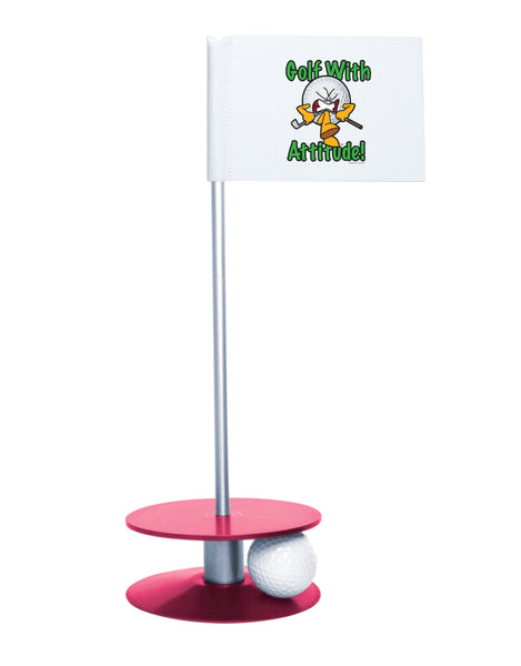 Putt-A-Round Gus the Golf Ball Gets Attitude with Pink Base - For the golfer with a little attitude