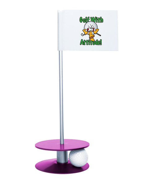 Putt-A-Round Gus the Golf Ball Gets Attitude with Purple Base - For the golfer with a little attitude
