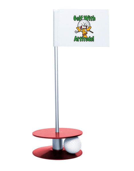 Putt-A-Round Gus the Golf Ball Gets Attitude with Red Base - For the golfer with a little attitude