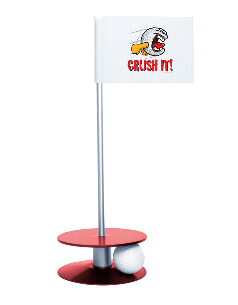 Putt-A-Round Gus the Golfball Crush It with Red Base - Awesome golf gift to remind your golfer to Crush It