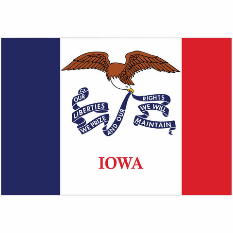 Iowa State Flag for Putt-A-Round - Flag Only