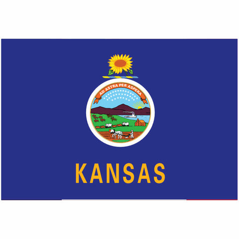 Kansas State Flag for Putt-A-Round - Flag Only