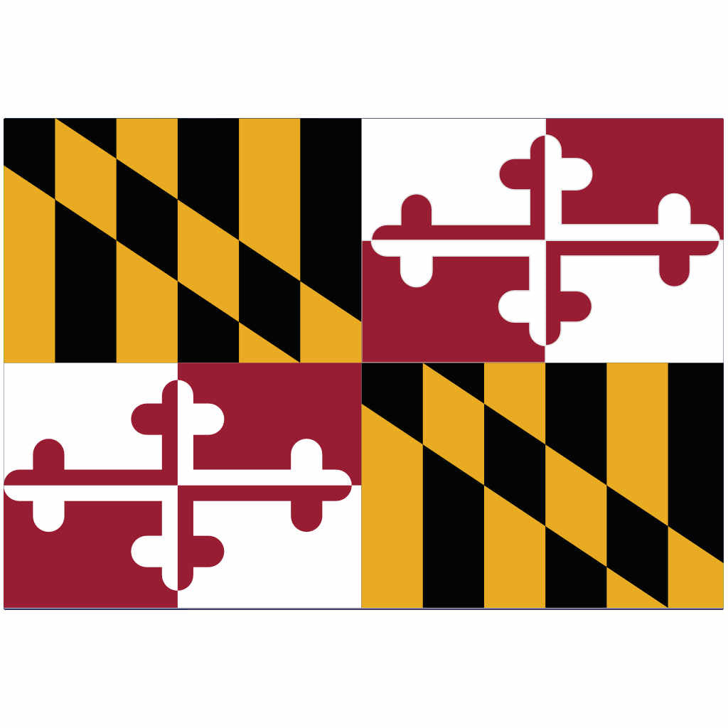 Maryland State Flag for Putt-A-Round - Flag Only