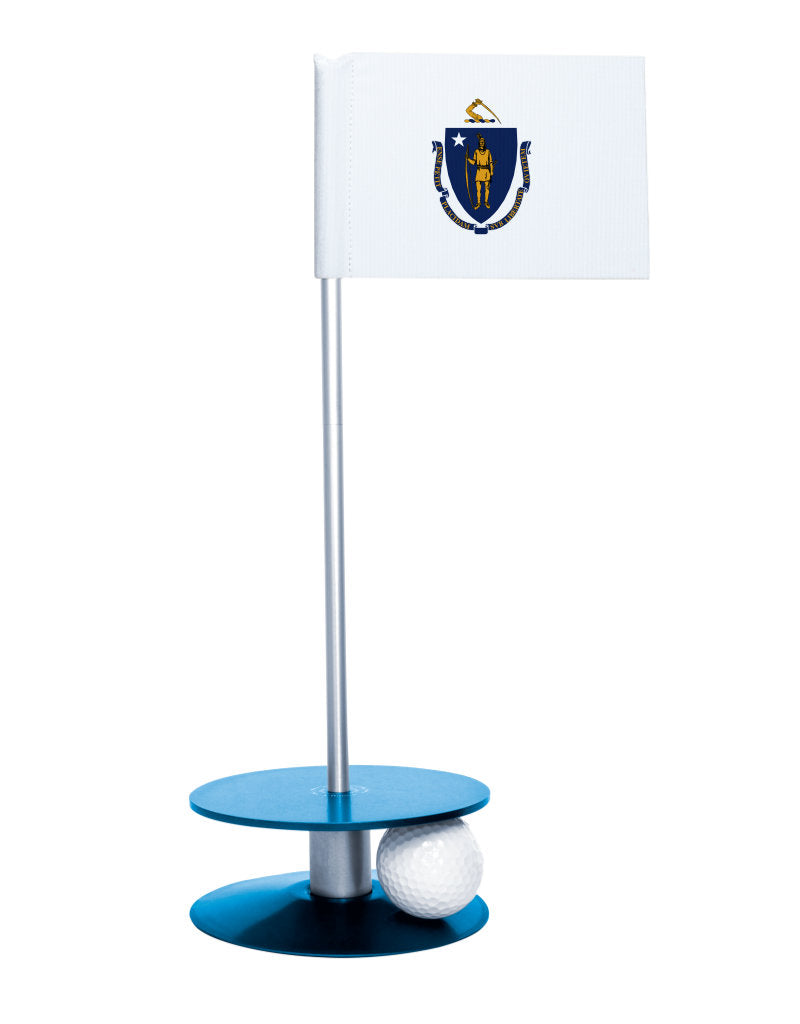 Maryland State Flag Putt-A-Round putting aid with blue base. Great way to improve your golf short game skills. Makes an awesome gift or giveaway!