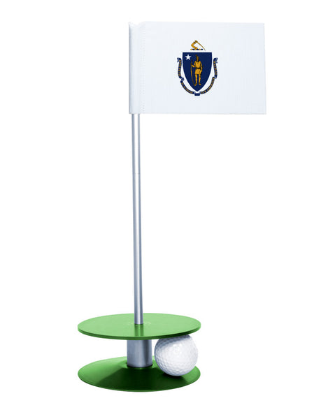 Maryland State Flag Putt-A-Round putting aid with green base. Great way to improve your golf short game skills. Makes an awesome gift or giveaway!