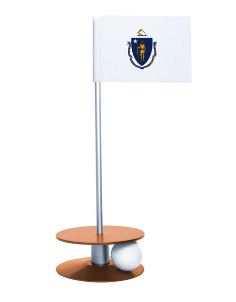 Maryland State Flag Putt-A-Round putting aid with orange base. Great way to improve your golf short game skills. Makes an awesome gift or giveaway!