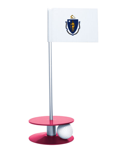 Maryland State Flag Putt-A-Round putting aid with pink base. Great way to improve your golf short game skills. Makes an awesome gift or giveaway!