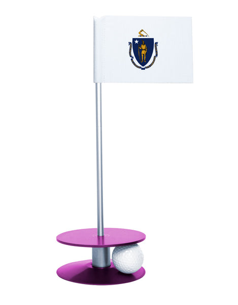 Maryland State Flag Putt-A-Round putting aid with purple base. Great way to improve your golf short game skills. Makes an awesome gift or giveaway!