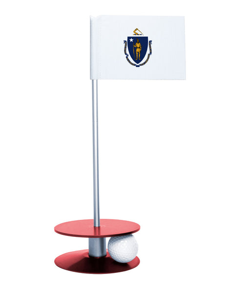 Maryland State Flag Putt-A-Round putting aid with red base. Great way to improve your golf short game skills. Makes an awesome gift or giveaway!