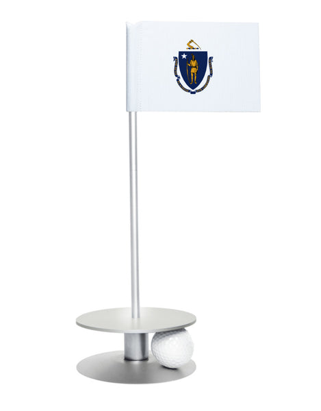 Maryland State Flag Putt-A-Round putting aid with silver base. Great way to improve your golf short game skills. Makes an awesome gift or giveaway!