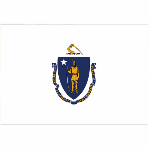 Massachusetts State Flag for Putt-A-Round - Flag Only