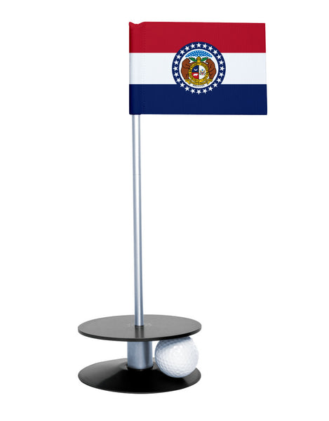 Missouri State Flag Putt-A-Round putting aid with black base. Great way to improve your golf short game skills. Makes an awesome gift or giveaway!