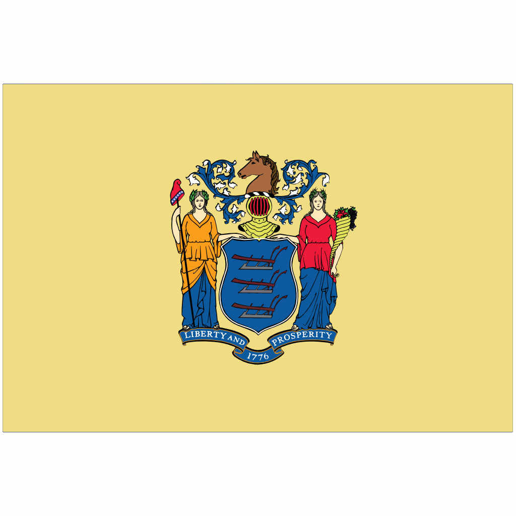 New Jersey State Flag for Putt-A-Round - Flag Only