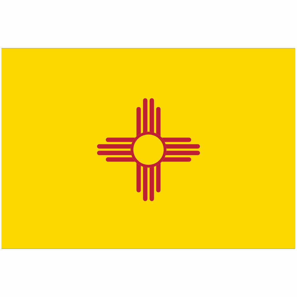 New Mexico State Flag for Putt-A-Round - Flag Only