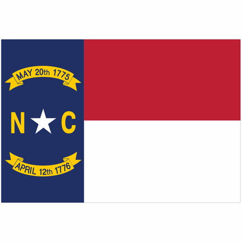 North Carolina State Flag for Putt-A-Round - Flag Only