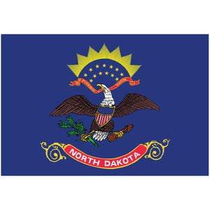 North Dakota State Flag for Putt-A-Round - Flag Only