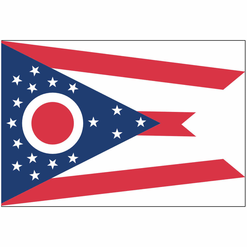 Ohio State Flag for Putt-A-Round - Flag Only