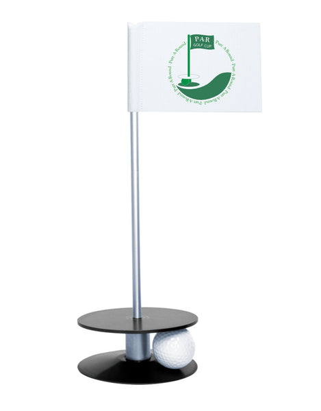 Putt-A-Round PAR Logo Putting Aid with Black Base - Great for practicing your putting skills