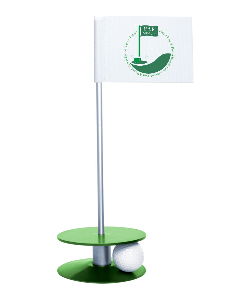 Putt-A-Round PAR Logo Putting Aid with Green Base - Great for practicing your putting skills