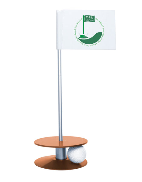 Putt-A-Round PAR Logo Putting Aid with Orange Base - Great for practicing your putting skills