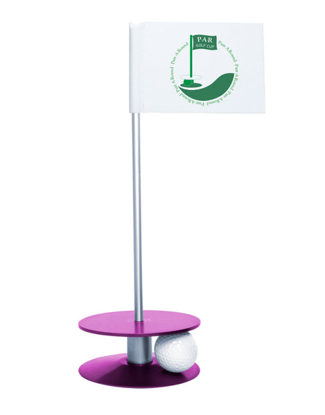 Putt-A-Round PAR Logo Putting Aid with Purple Base - Great for practicing your putting skills