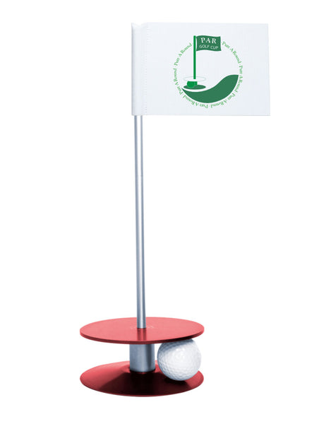 Putt-A-Round PAR Logo Putting Aid with Red Base - Great for practicing your putting skills