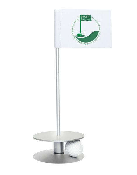Putt-A-Round PAR Logo Putting Aid with Silver Base - Great for practicing your putting skills