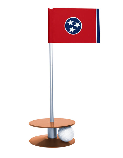 Tennessee State Flag Putt-A-Round putting aid with orange base. Great way to improve your golf short golf game skills. Makes a unique gift or giveaway!