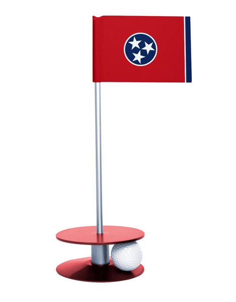 Tennessee State Flag Putt-A-Round putting aid with red base. Great way to improve your golf short golf game skills. Makes a unique gift or giveaway!