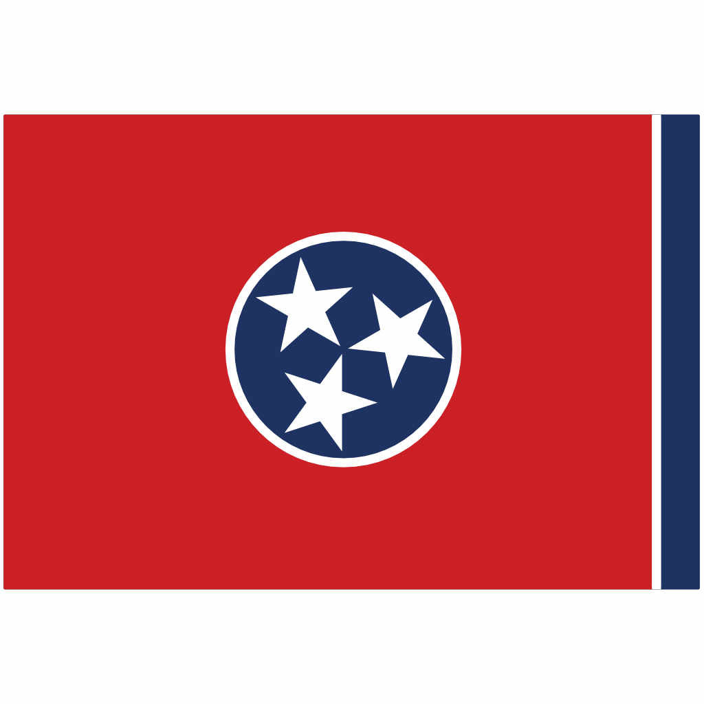 Tennessee State Flag for Putt-A-Round - Flag Only