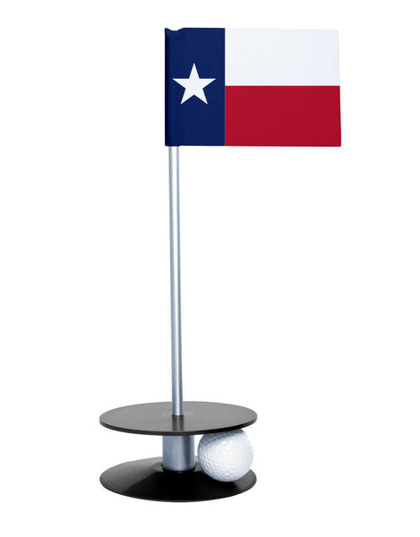 Texas State Flag Putt-A-Round putting aid with black base. Great way to improve your golf short golf game skills. Makes a unique gift or giveaway!