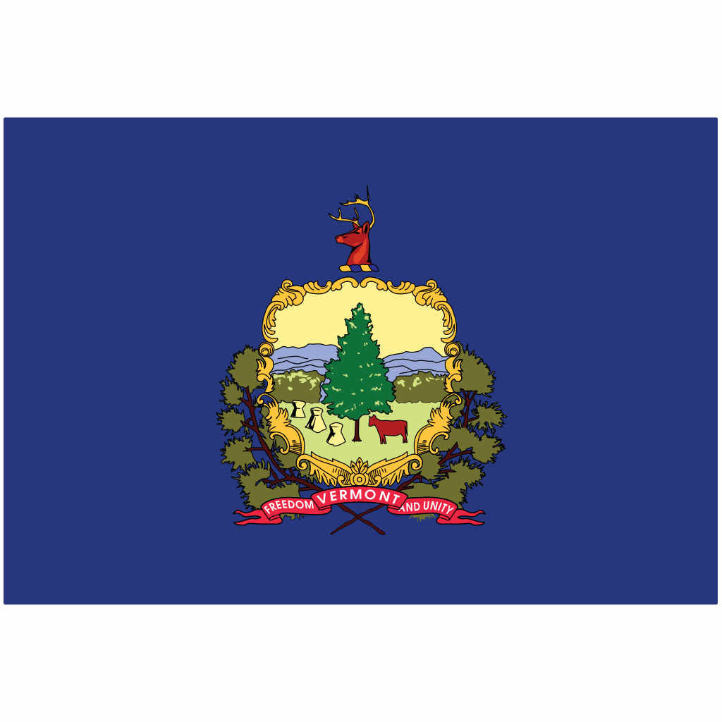 Vermont State Flag for Putt-A-Round - Flag Only
