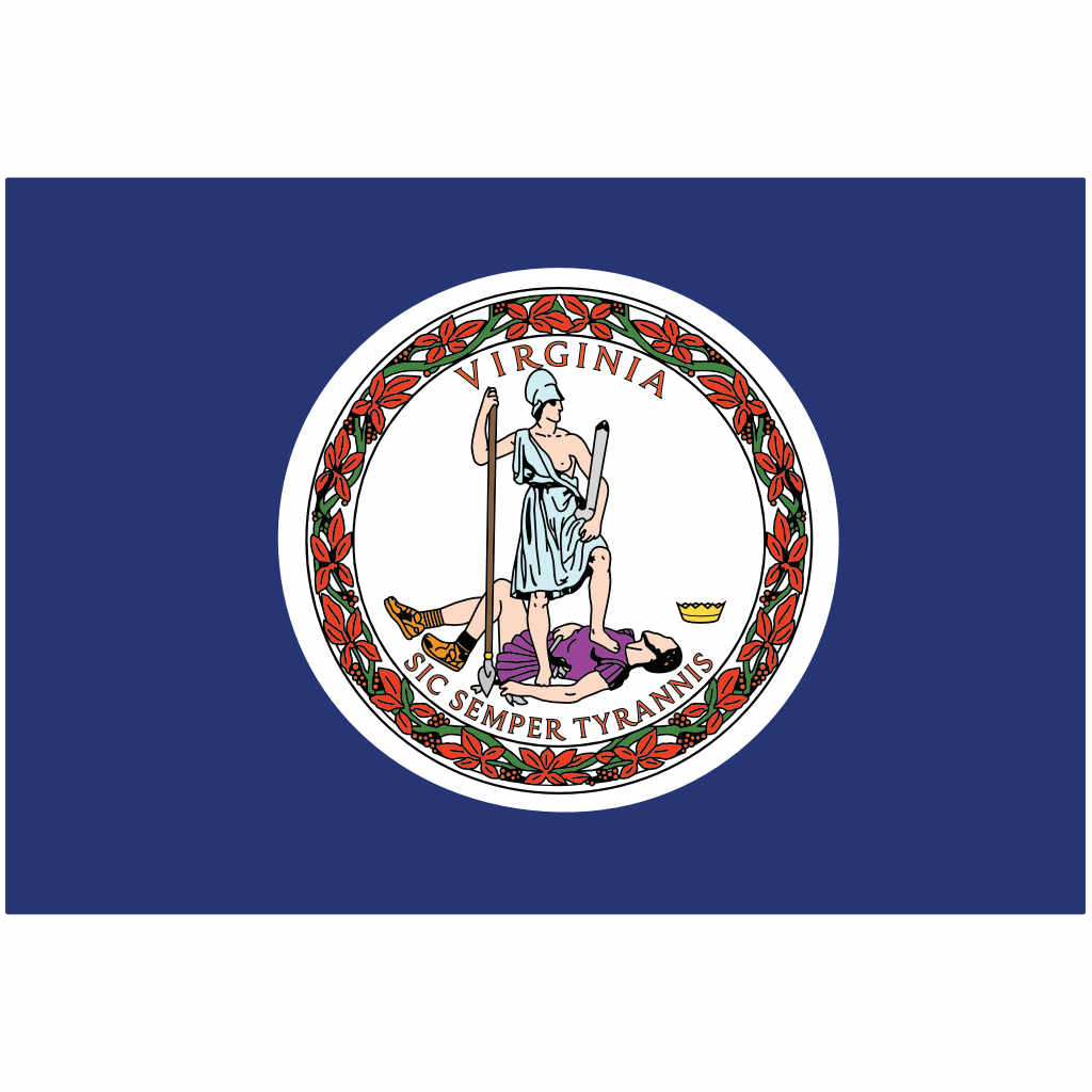 Virginia State Flag for Putt-A-Round - Flag Only