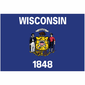 Wisconsin State Flag for Putt-A-Round - Flag Only