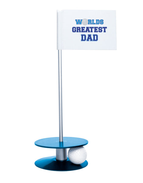 Putt-A-Round Putting Aid Worlds Great Dad with Blue Base - Give the greatest dad the gift of a better short game