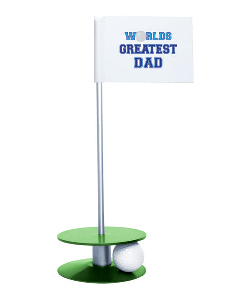 Putt-A-Round Putting Aid Worlds Great Dad with Green Base - Give the greatest dad the gift of a better short game