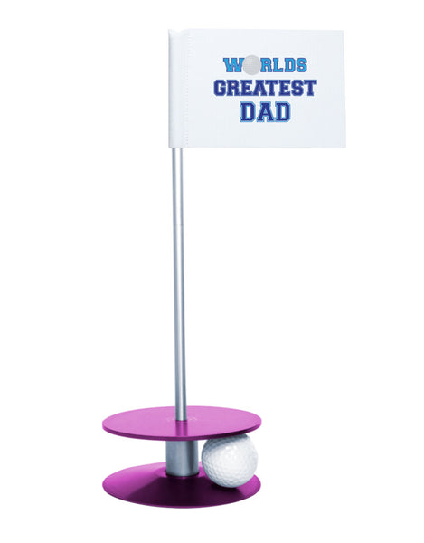 Putt-A-Round Putting Aid Worlds Great Dad with Purple Base - Give the greatest dad the gift of a better short game