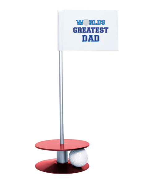 Putt-A-Round Putting Aid Worlds Great Dad with Red Base - Give the greatest dad the gift of a better short game
