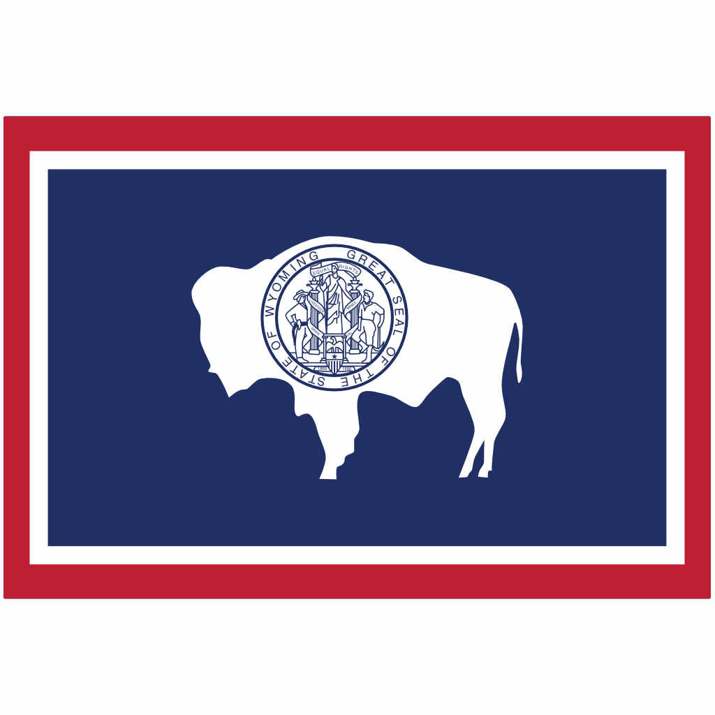 Wyoming State Flag for Putt-A-Round - Flag Only