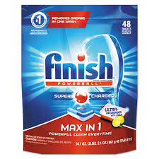48 x FINISH ALL IN 1 MAX LEMON POWERBALL - CHEAPER THAN AMAZON..