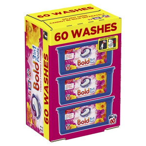 60 Bold  Washing Tablets - BLOOM & YELLOW POPPY CAPSULES