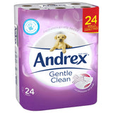 "72 ANDREX ""PUPPIES ON A ROLL"" GENTLE CLEAN TOILET ROLLS (3 x 24)"