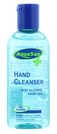 12 x 100ml MALIBU AQUASAN HAND SANITISER 65% ALCOHOL