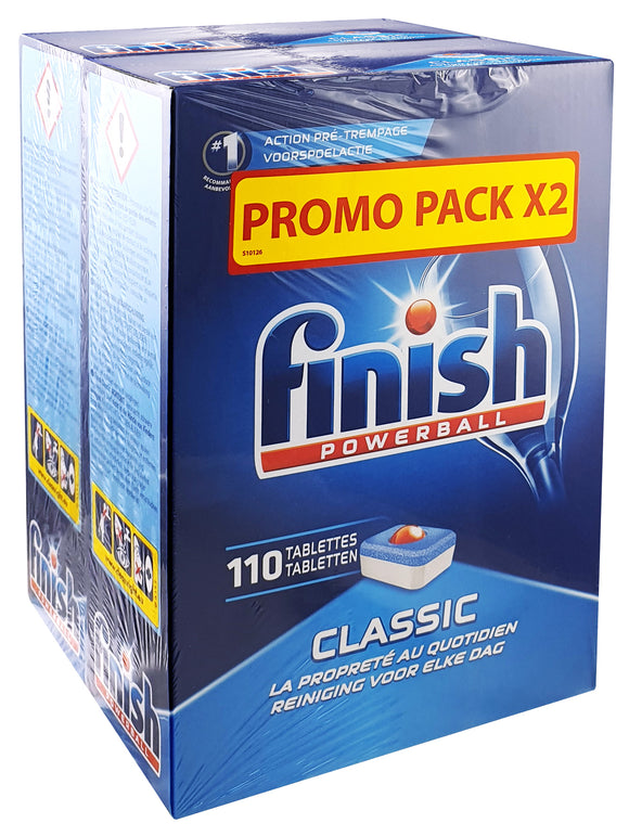 220 x FINISH POWERBALL CLASSIC REGULAR DW TABS - CHEAPER THAN AMAZON..