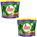 "200 ""FAIRY"" LEMON ALL IN ONE DISH WASHER TABLETS - CRAZY OFFER+ 50 BLACK BAGS"
