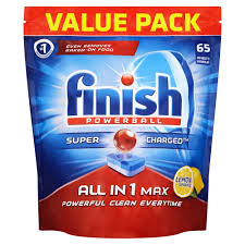 65 x FINISH ALL IN 1 MAX LEMON POWERBALL - CHEAPER THAN AMAZON..