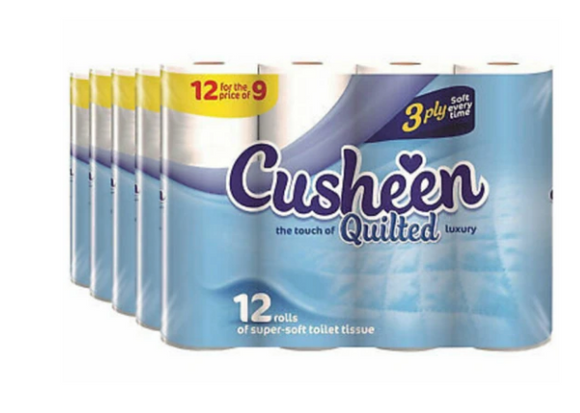 120 White Cusheen Toilet Roll